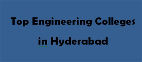 Top 10 Mba Colleges In Hyderabad 2015 by Top Engineering Colleges In Hyderabad 2014 2015 Exacthub