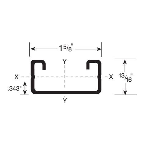 section modulus of c channel fs 510 series flex strut