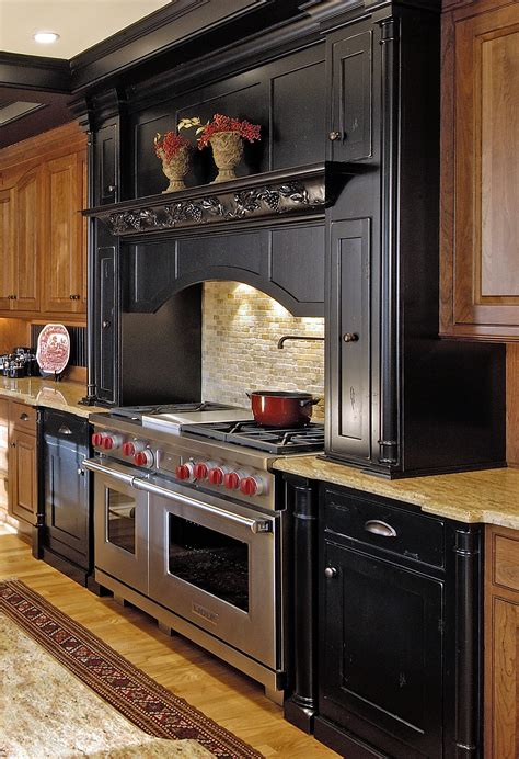 Modern Small Stacked Stone Backsplash Behind Stove Design
