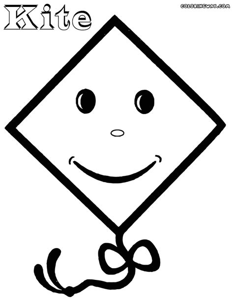 kite coloring pages coloring pages    print