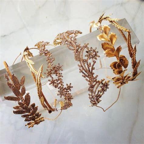 Wedding Hair Accessories In Gold by Hair Accessory Crown Gold Diamonds Rhinestones Tiara