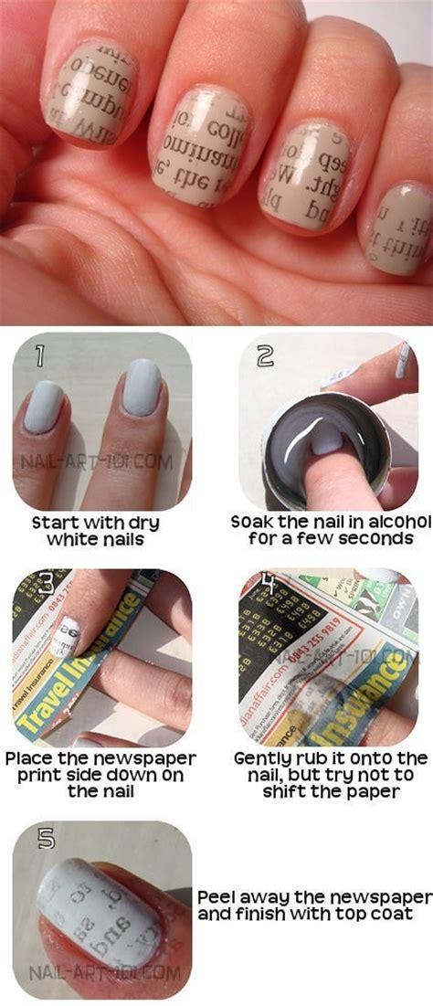 tutorial nail art pinterest diy newspaper nail art tutorial pictures photos and