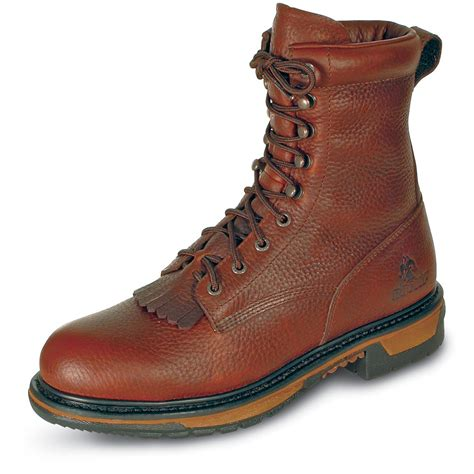 rocky 174 ride waterproof steel toe lacers brown 20443