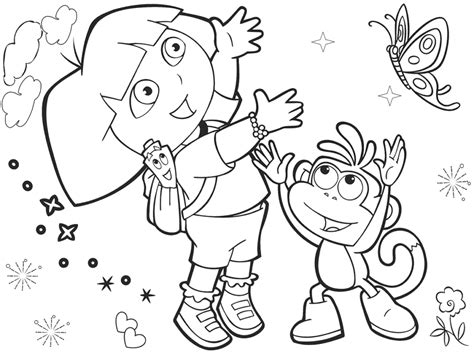 coloring pages dora the explorer coloring pages dora the
