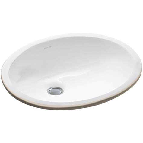 Undermount Bathroom Sink In White Kohler Caxton Vitreous China Undermount Bathroom Sink In
