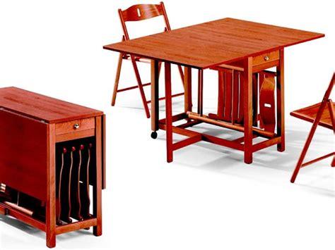 tavolo pieghevole con sedie tavolo pieghevole con alloggio per sedie salvaspazio