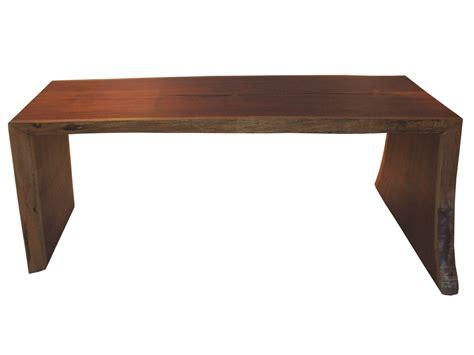 Solid Timber Desk by Built By Dornob A Single Board Solid Wood Desk Design