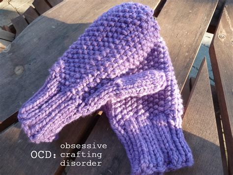 how to knit gloves with circular needles ocd obsessive crafting disorder seed stitch mittens a