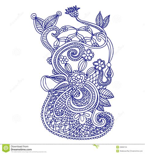 neckline embroidery design stock images image 29806724