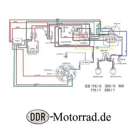 Motorrad Elektrik Verlegen by Kabelbaum Schraubkontakt Mz Es 175 250 Ddr Motorrad