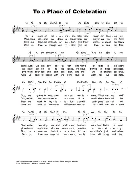 A Place Hymnal To A Place Of Celebration A Hymn For Orlando The Presbyterian Outlook