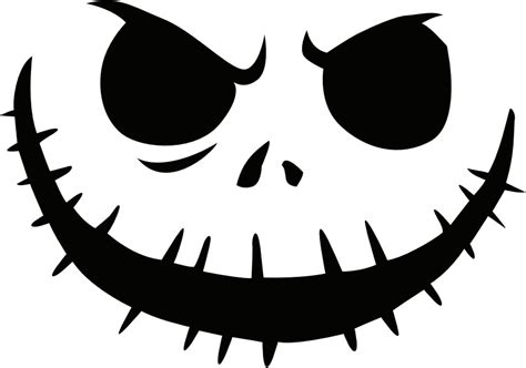 14 Unique Jack Skellington Pumpkin Stencil Patterns ... Pumpkin Pattern Free