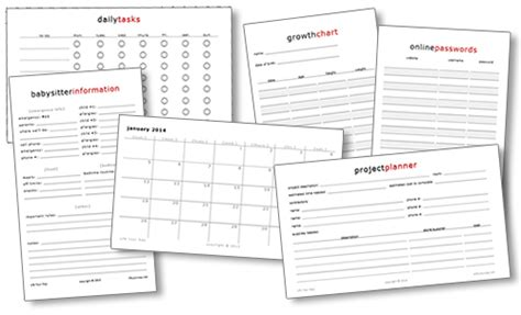 Kitchen Bill Organizer - free printables life your way