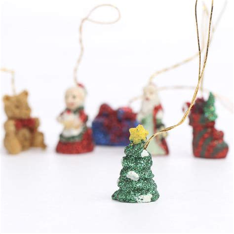 miniature glittery christmas ornaments christmas