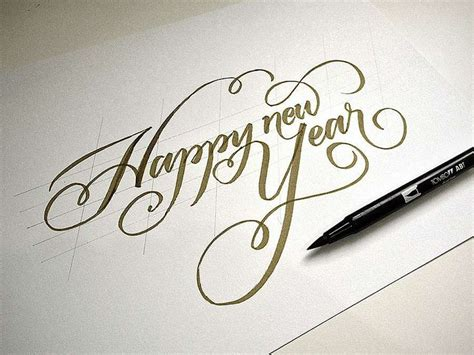 how do you spell happy new year in 1000 images about calligraphy on penmanship