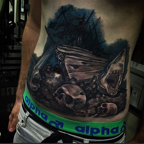 sunken ship tattoos sunken pirate ship best ideas gallery