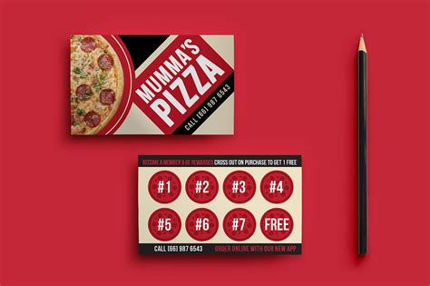 pizza template for a card pizza restaurant loyalty card template brandpacks