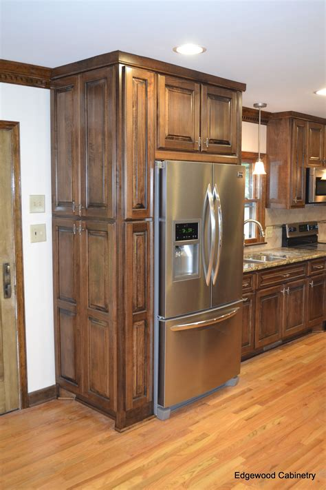 Custom Maple Cabinets Finished In A Walnut Stain And Then Black Stained Kitchen Cabinets