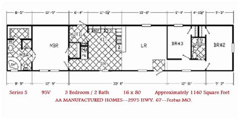 16x80 mobile home floor plans new single wide mobile homes