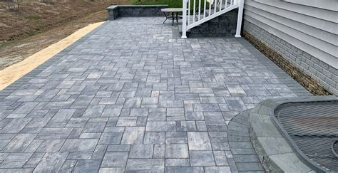 paver patio stairs sitting walls  odenton maryland