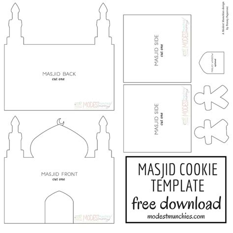 mosque pledge cards template ramadan eid archives modest munchies