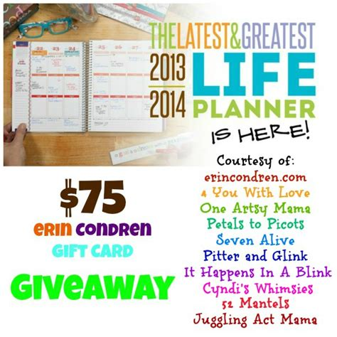 Erin Condren Planner Giveaway - erin condren life planner give away