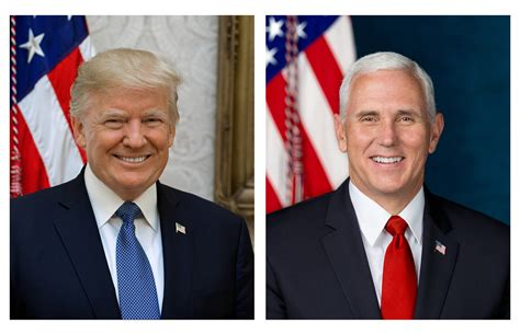 donald trump presidential picture donald trump and mike pence official portraits revealed time
