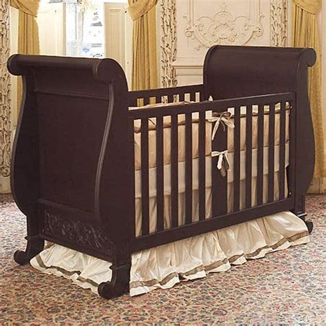 sleigh bed crib chelsea sleigh crib in espresso cas design and baby cribs
