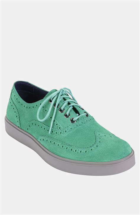 wingtip sneakers cole haan bergen wingtip sneaker in green for mint
