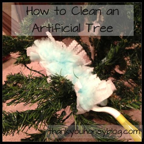 tips for cleaning the christmas tree thank you honey