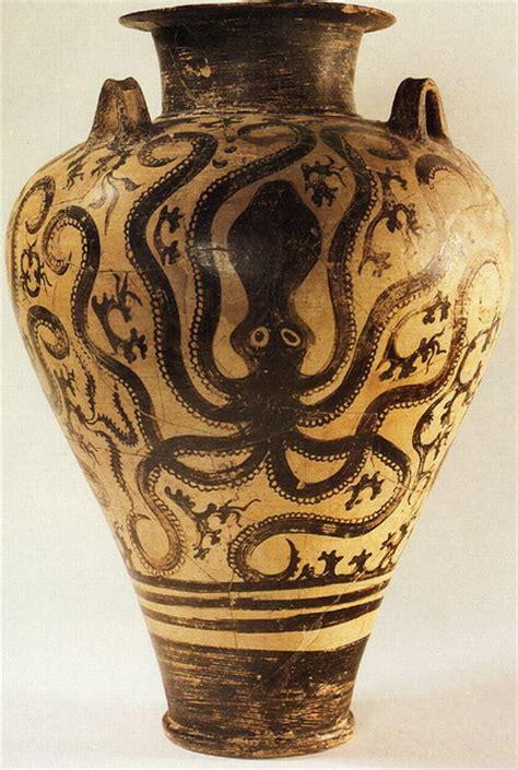 Minoan Vases by The Octopus Motif In Ancient Ceramics Ferrebeekeeper