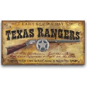 rangers western decor vintage sign 26x14