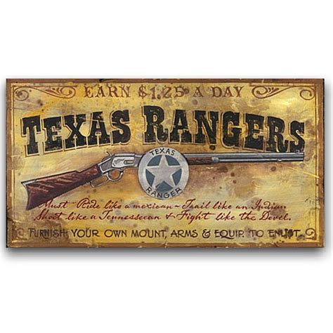 vintage western home decor texas rangers western decor vintage sign 26x14