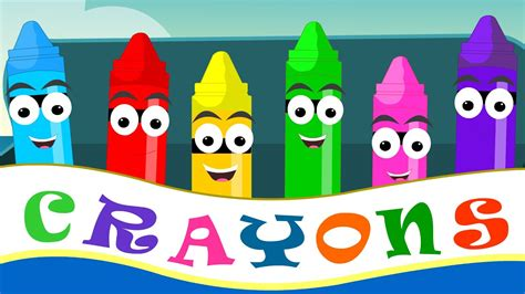 color kid crayons nursery rhymes crayon color song for kid songs