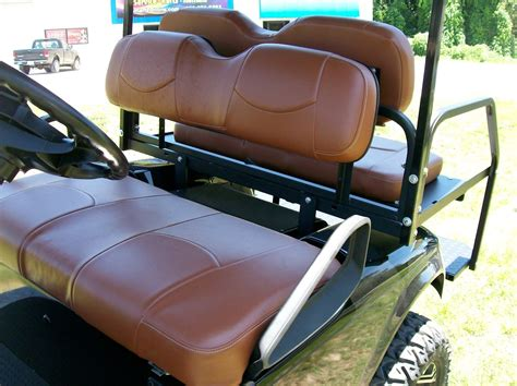 golf cart upholstery seats golf cart seat replacement with saddle brown seat covers