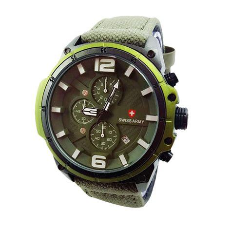 Jam Tangan Pria Swiss Army 182 jual swiss army crhono sa x007171 hj jam tangan pria hijau harga kualitas terjamin