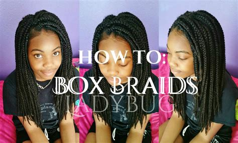 Braids On Black 5 Year Olds | 12 yr old does her own box braids toodee ladybug youtube