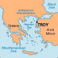 Troy Greece Map by Classical Literature