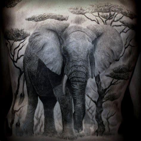 elephant tattoo grey 50 elephant tattoos on back