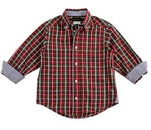 Laurence by eiseman boys red green christmas plaid dress shirt