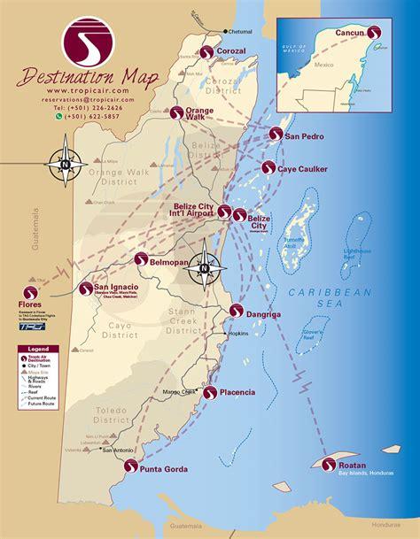 routes map citilink air routes map tropic air route map tropic air belize