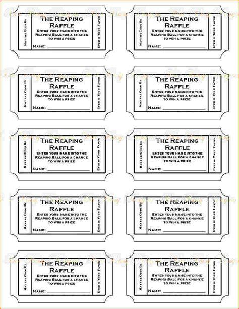 raffle tickets templates office com messiah ideas