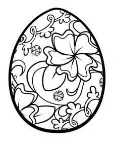 Floral easter egg coloring pages jpg