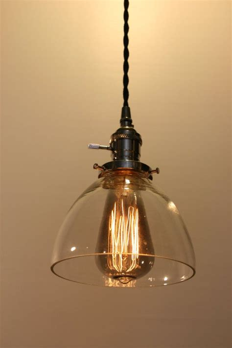 Glass Dome Pendant Light 6 Quot Clear Glass Dome Pendant Light Hanging Pendant Vintage Style C
