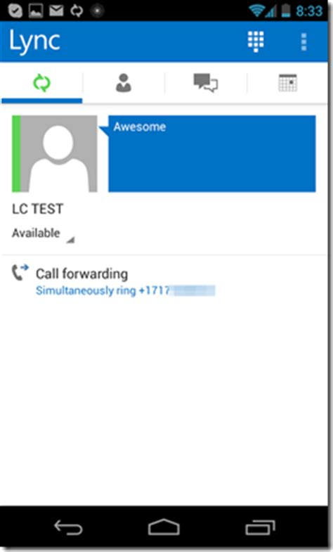 lync 2013 for android matt landis windows pbx uc report lync 2013 mobile for android look