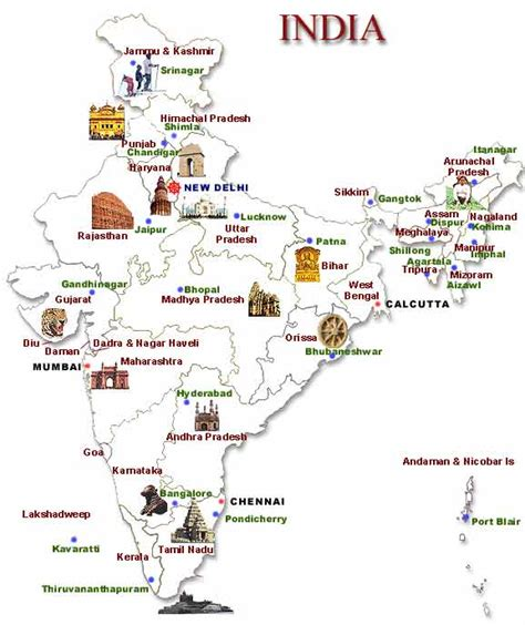 travel destination maps top tourist destinations in india map