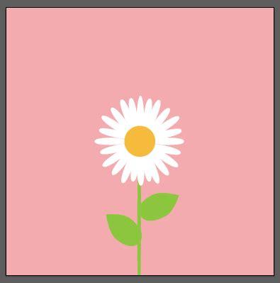 desain grafis flat tutorial membuat flat desain bunga daisy kursus desain