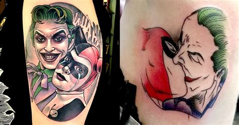joker tattoo studio wolmirstedt 10 joker and harley quinn tattoos for any comic couple