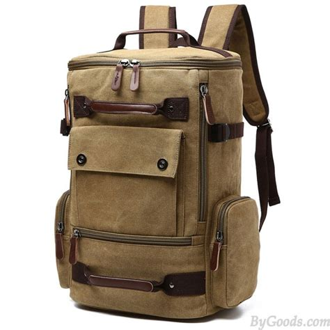 Ransel 505 Black retro washing color school backpack travel outdoor