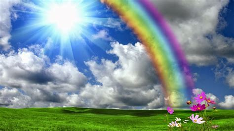 beautiful wallpapers beautiful rainbow shining sun nature hd wallpapers god s